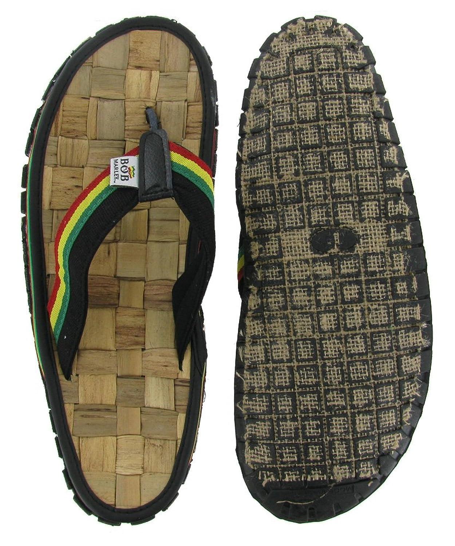 Jamaican sandals shoes - Amazon Com Bob Marley Men S Bamboo Flip Flop Sandals Reggae Jamaica Rasta Thong Shoes