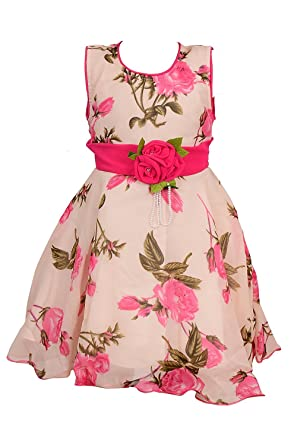 71e6c99d767 BEBO 21 Party wear Baby Girls Frock Dress (PNK55B Pink 5-6 Years ...