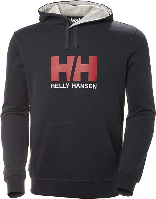 TALLA M. Helly Hansen Logo Hoodie HH Sudadera con Capucha, Hombre