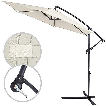 Schutzhülle bis 3,5 m grün Sonnenschirm Bezug Ampelschirm Reißverschluss
