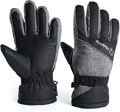 Details about  /Youth Tek Gear WarmTek 3M Thinsulate Grey//Black Boys Ski Gloves NEW