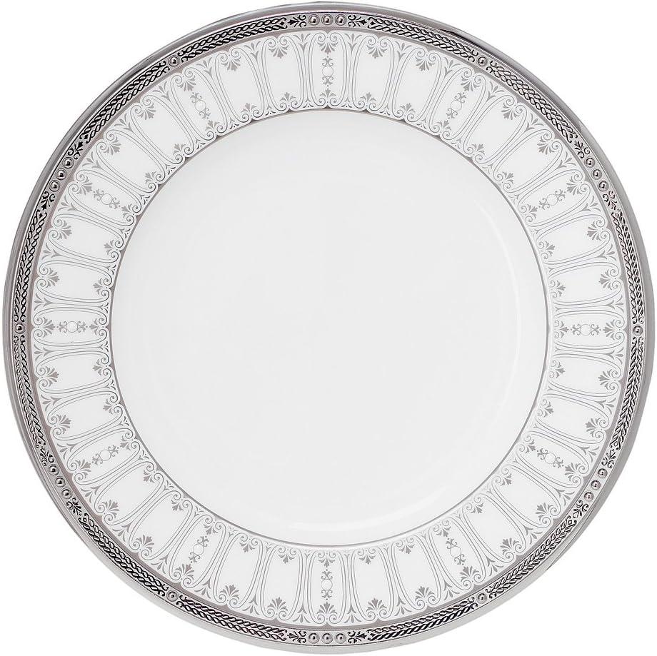 B0000C7BHC Noritake Chatelaine Platinum Accent Plate, 9-inches 71ct6-c0vWS