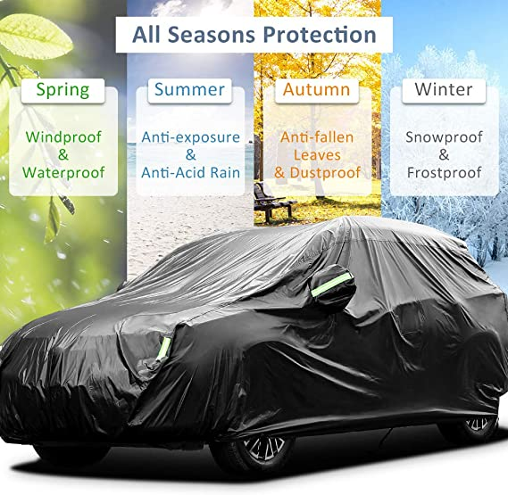 Car Cover Suitable for Peugeot 3008 SUV Car Protection Cover SUV Sedan Waterproof All Weather Outdoor Color : Gray, Size : 2019