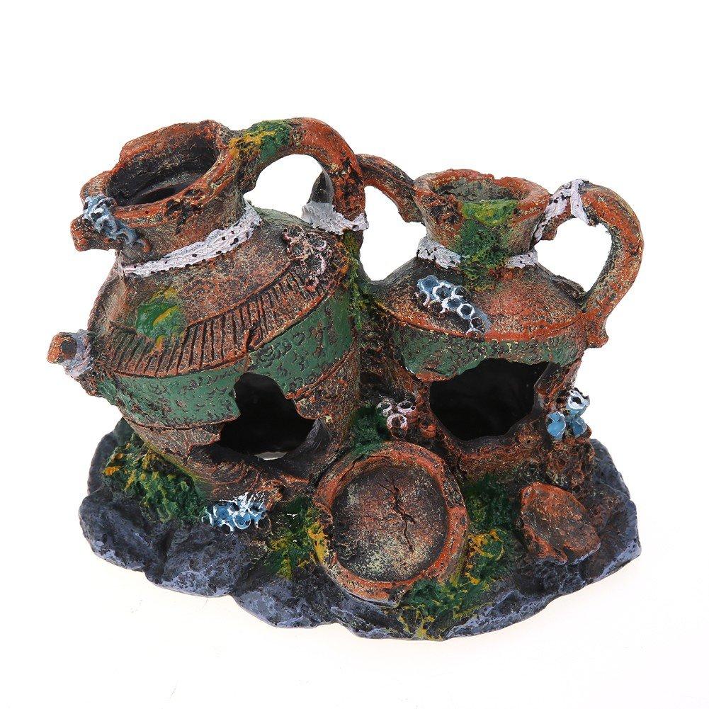 Jarrones con cuevas para la decoracion de peceras, acuarios y estanques: Amazon.es: Hogar