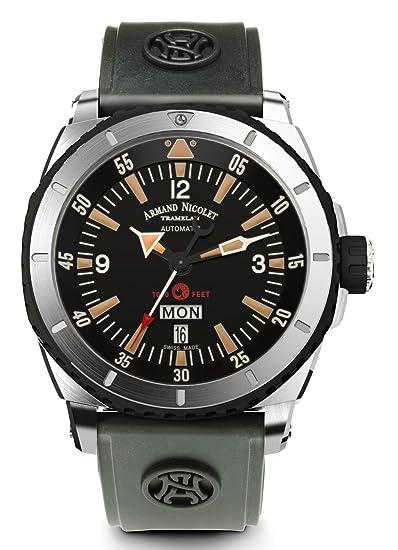 Armand Nicolet Hombre Reloj S05 Fecha Día de la semana de pulsera analógico automático a713mgn de Nr de g9610: Amazon.es: Relojes