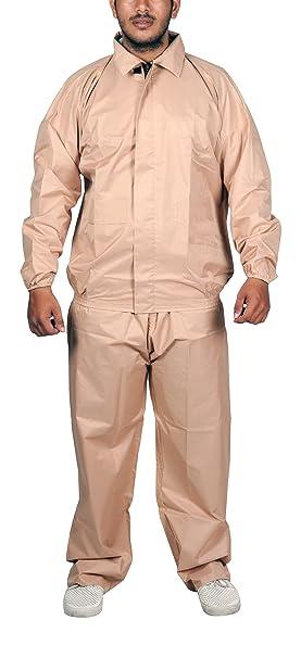 Adhunik Unisex Rubber Rain Coat Beige Amazonin Clothing