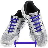 WELKOO® Cordones elásticos de silicona sin nudo impermeables para calzado de adulto e infantil -