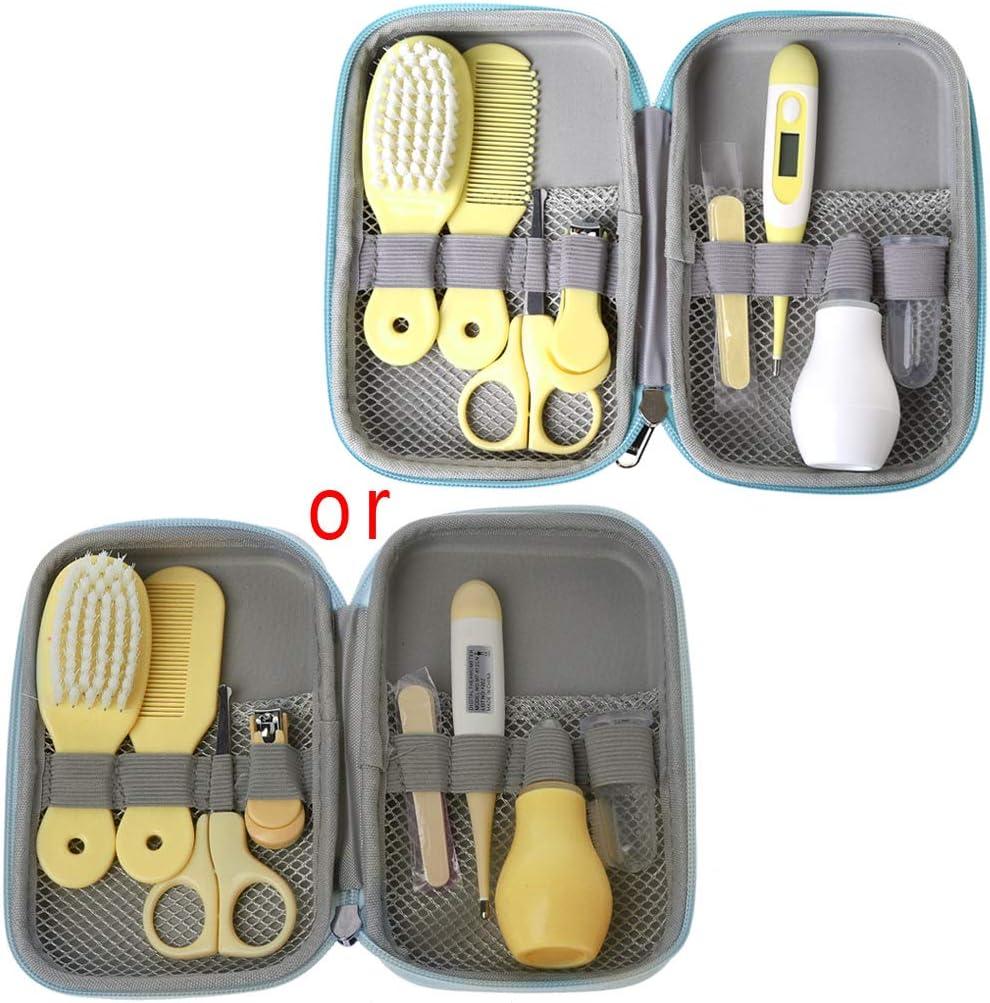 MIsha 8 Unids/Set kit higiene bebe, Neceser de Aseo de Bebé regalos bebes recien nacidos originales (Amarillo)