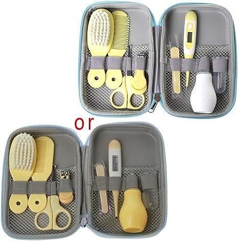 MIsha 8 Unids/Set kit higiene bebe, Neceser de Aseo de Bebé regalos bebes recien nacidos originales (Amarillo): Amazon.es: Bebé