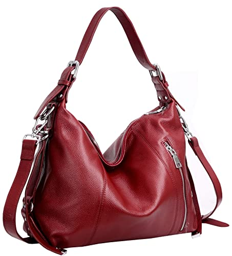 Heshe Vintage Women's Leather Shoulder Handbags Totes Top Handle Bags Cross Body Bag Satch...