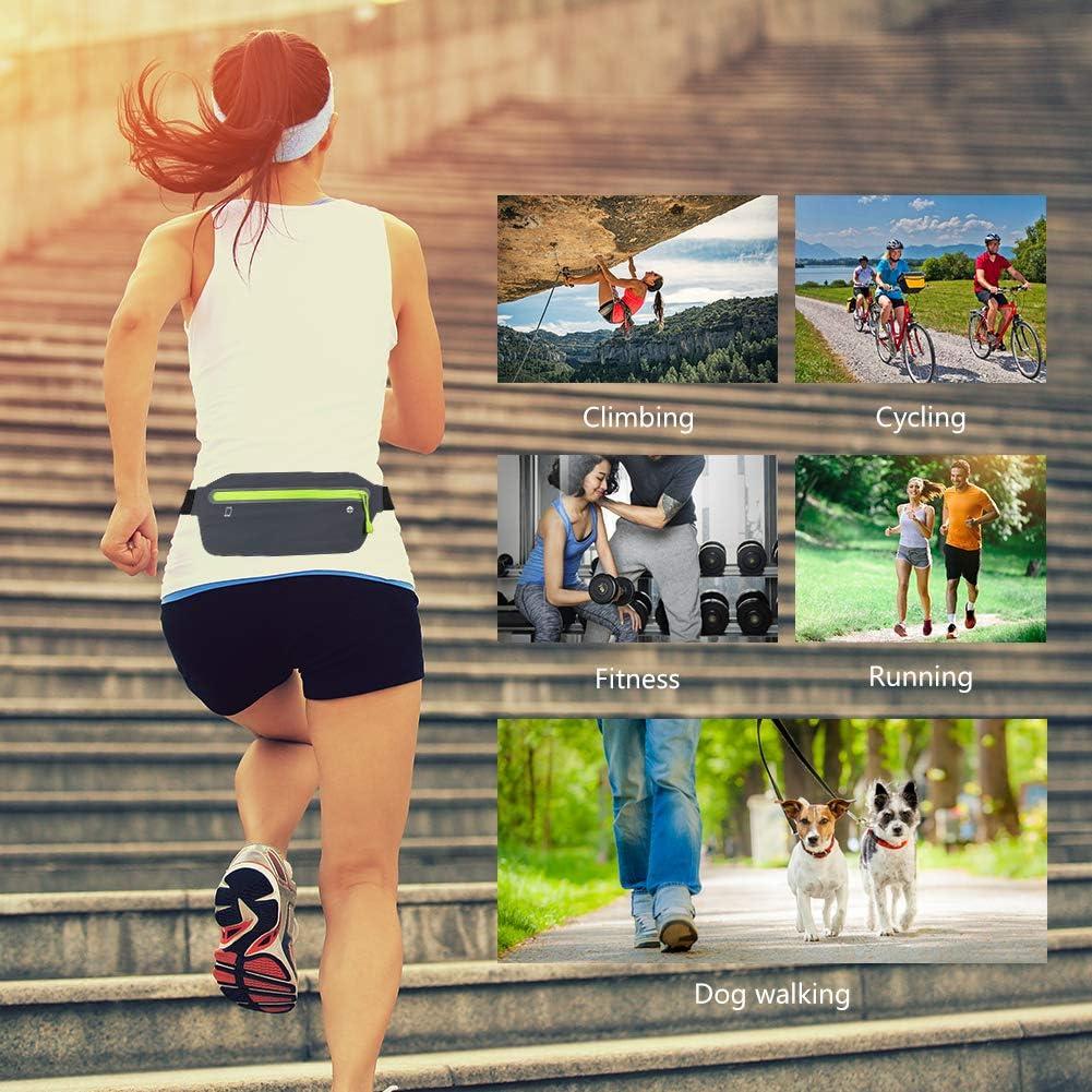 con correa el/ástica ajustable ejercicio caminar ciclismo ri/ñonera impermeable para entrenamientos de gimnasio viajes y actividades al aire libre Ri/ñonera para hombre y mujer Gaocunk