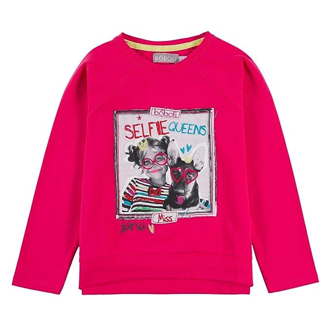 boboli Camiseta Punto Elástico - Camiseta Punto Elástico para Niñas: Amazon.es: Ropa y accesorios