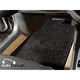 Autofurnish Anti Skid Curly Car Foot Mats (Black) for Ford Figo