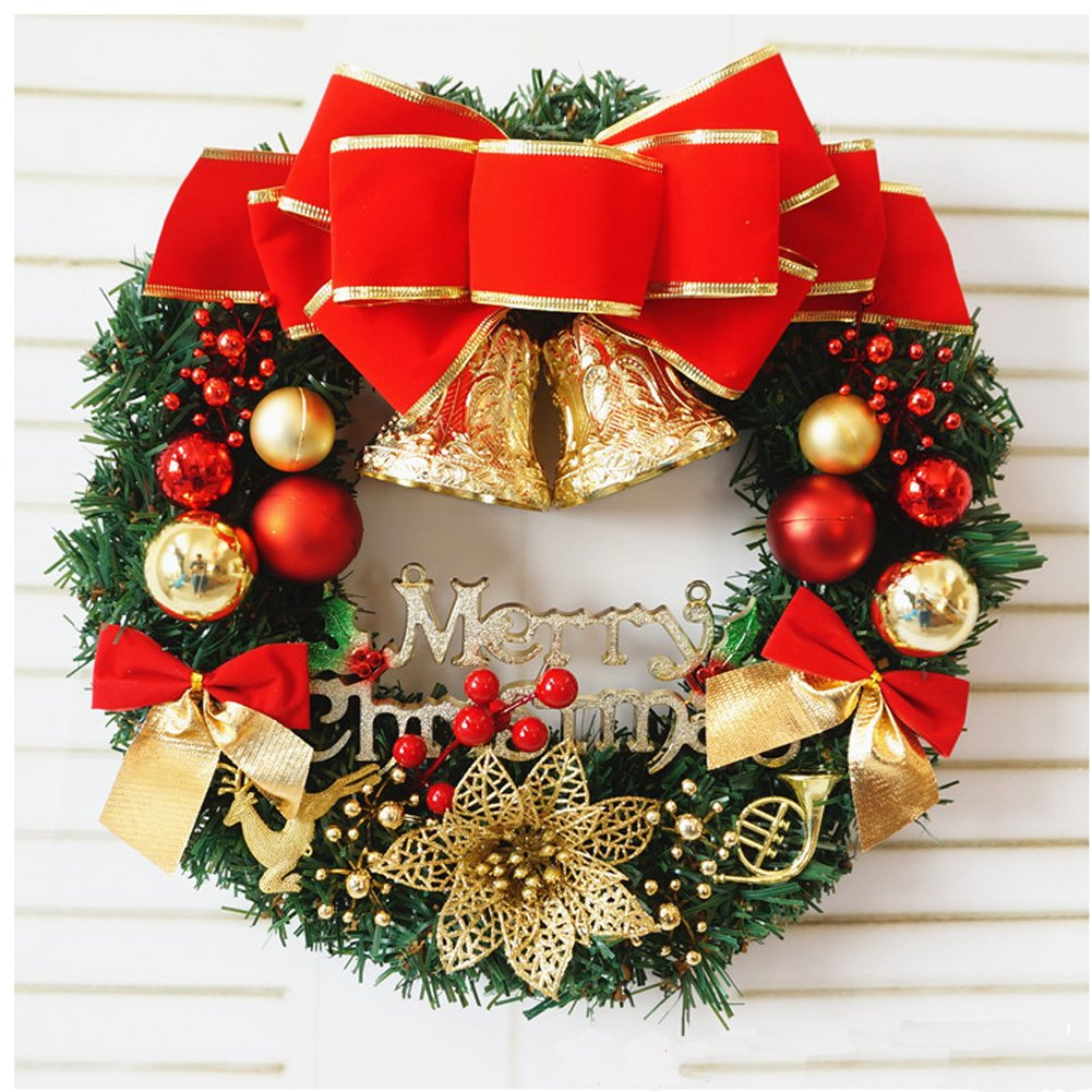 Red Butterfly Christmas Wreath Garland Ornaments Arcades Hotel Christmas Decorations (30-35cm)