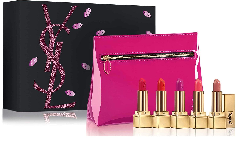 75d5c90e0ea2 Amazon.com   Yves Saint Laurent Rouge Pur Couture Mini Lipstick Collection  - 5 Travel + Cosmetic Bag   Beauty