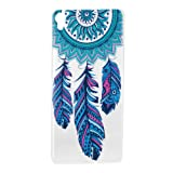 For Sony Xperia XA Case [With Tempered Glass Screen Protector],idatog(TM) Soft Silicone Bumper Ultra Thin Slim Flexible Cover Case ,High Quality TPU with Colorful Cute Printed Pattern Fashion Design Protective Back Rubber Case Cover Shell Perfect Fitted For Sony Xperia XA (Dreamcatcher)