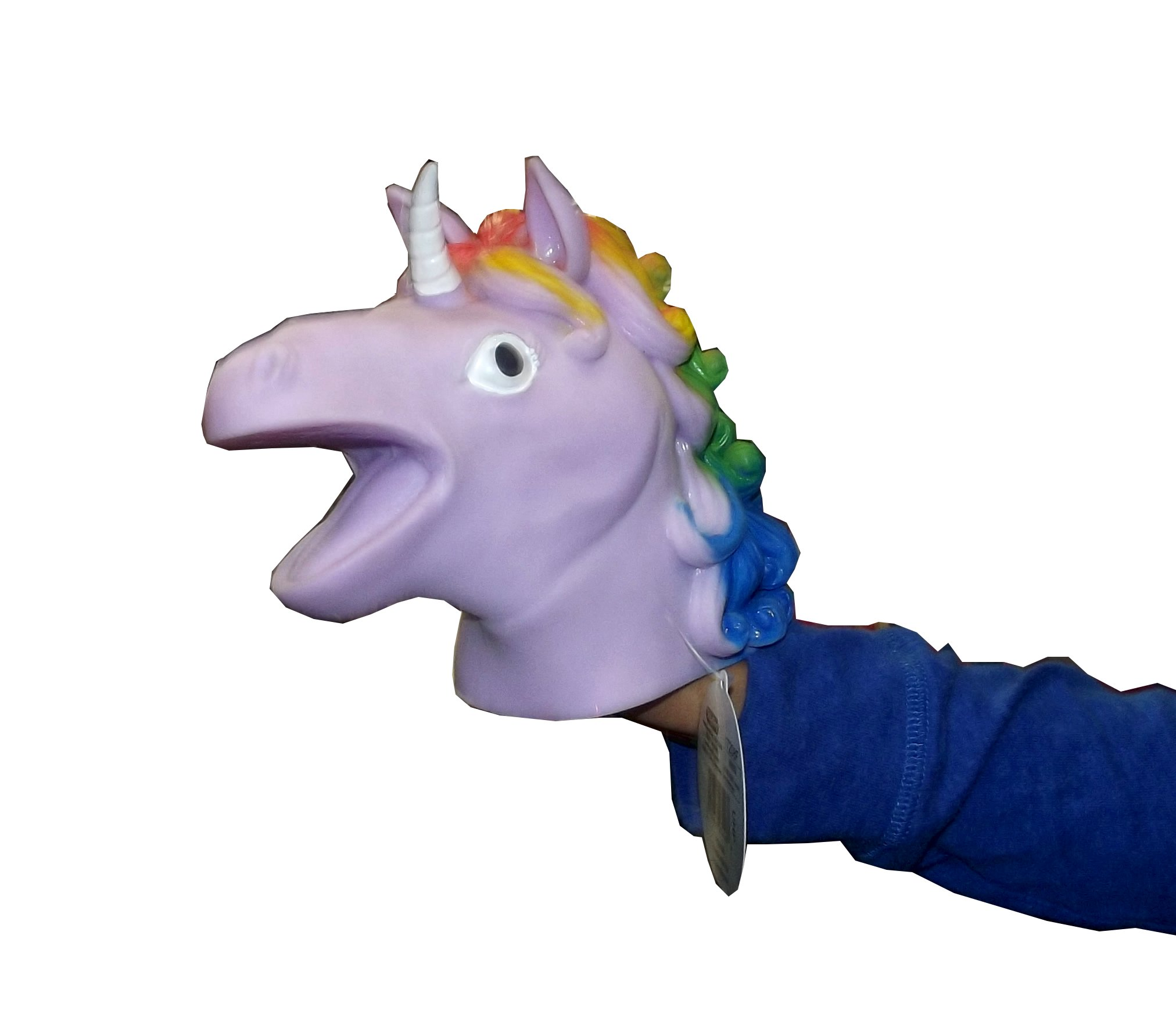 Schylling Rainbow Unicorn Hand Puppet, Assorted, 1 Count 4