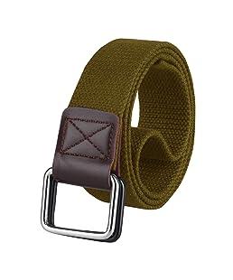 ZORO Cotton belt for men, belts for men under 200, gift for gents, belt for men stylish, gents belt, mens belt khaki color CB40-40-GD