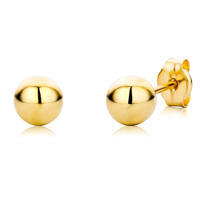 Miore Pendientes de mujer con oro amarillo k forma esférica