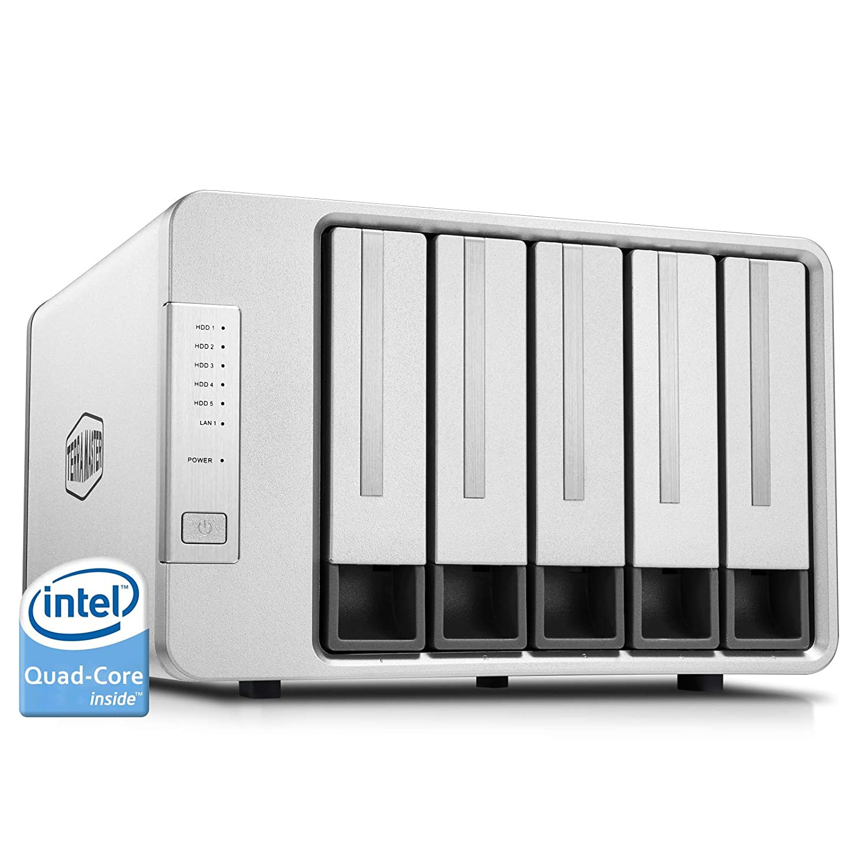 TerraMaster F5-421 NAS 5-Bay Cloud Storage Intel Quad Core 1 5GHz Plex  Media Server Network Storage (Diskless)