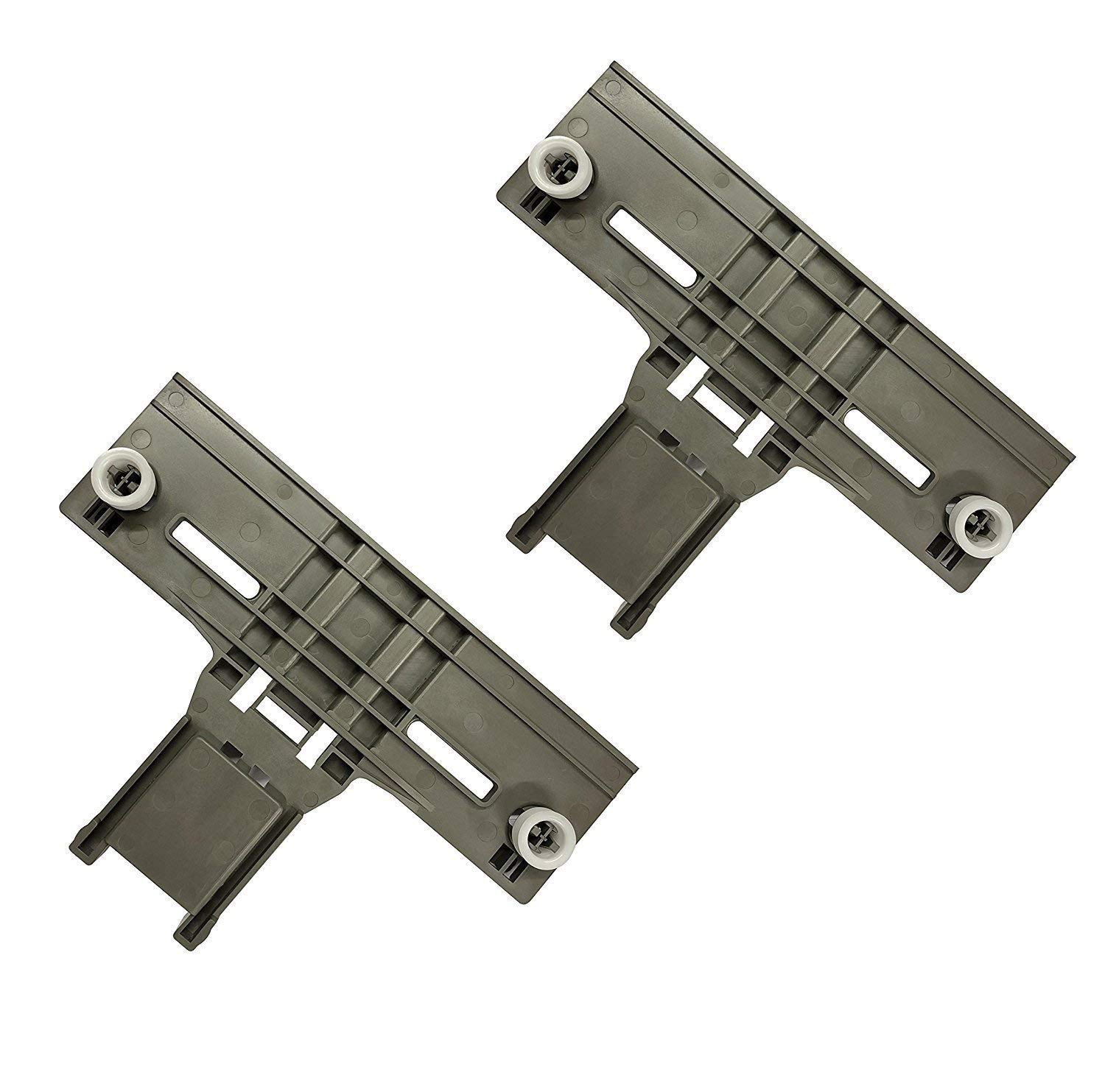 [ Upgraded ] Ultra Durable W10350376 Dishwasher Top Rack Adjuster Replacement part by SANJOIN – Exact Fit For Whirlpool & Kenmore Dishwashers - Enhanced Durability with Steel Screws - PACK OF 2
