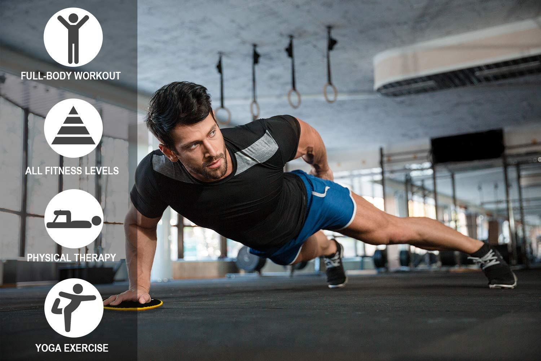 Fasce Resistenza di Lattice Naturale Elastici Fitness 5+2 XGEAR Kit Completo di 5 Bande Elastiche con Differente Resistenza Banda Elastica 2 Dischi di Scorrimento Dischi Fitness Core Sliders