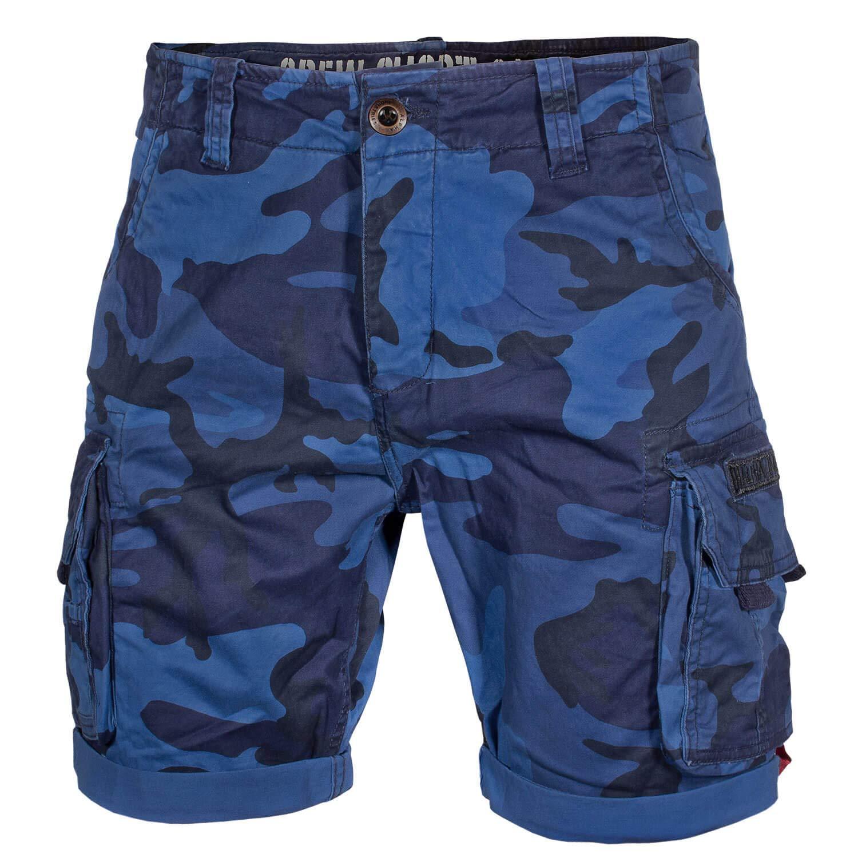 Navy Camo Alpha Industries Crew Shorts Cargoshort Herren Shorts