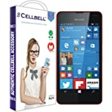 Cellbell TM Nokia Lumia 550 (transparent) 9H Premium Tempered glass screen protector with FREE Installation Kit