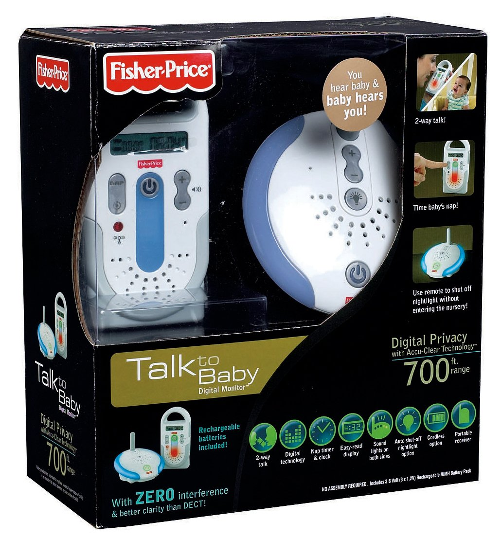 Amazon.com: Fisher-Price Talk a Baby Monitor Digital, color ...