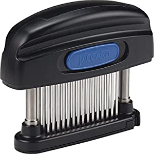 Jaccard 200345NS 45-Blade Meat Tenderizer, Simply Better Meat Tenderizer, Stainless Steel Columns/ Removable Cartridge, NSF Approved, Black