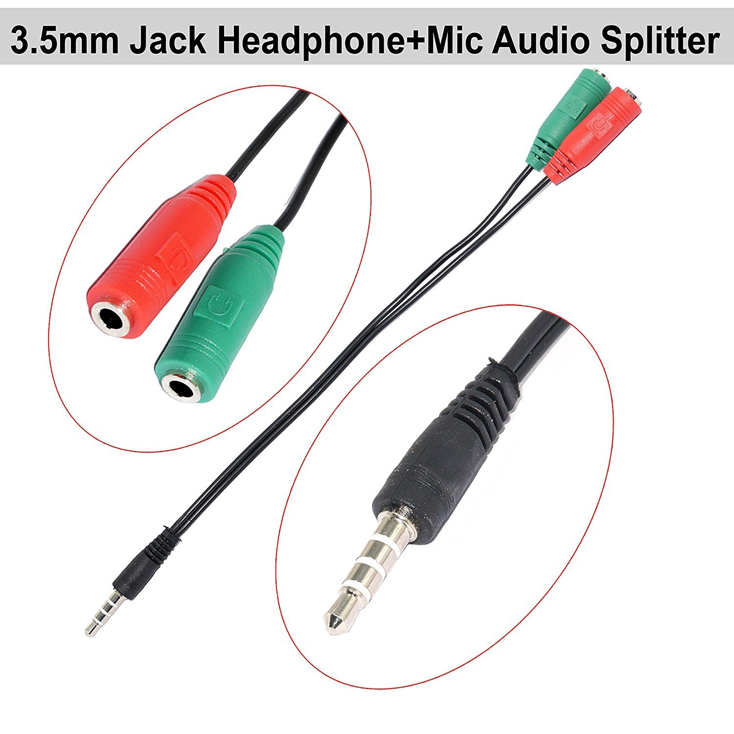 Buy Riatech 35mm Audio Jack To Headphone Microphone Splitter Speaker Jacks Wiring Converter Adaptor Cablemulticolour Online At Low Prices In India