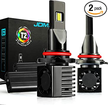 JDM ASTAR T2 12000 Lumens Extremely Bright High Power 9012 All-in-One LED Headlight Bulbs Xenon White