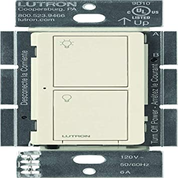 Lutron Caseta Wireless 6 Amp Multi-Location - Interruptor neutro de pared - blanco: Amazon.es: Bricolaje y herramientas