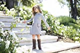 Hope & Henry Girls' Grey Ponte Quilted Riding Dress