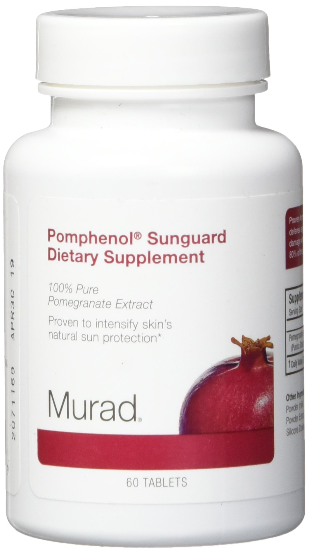 Murad Pomphenol Sunguard Dietary Supplement, 100% Pure Pomegrante Extract, 60 Tablets