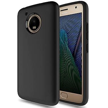 Funda Moto G5, HanLuckyStars TPU Fundas Carcasa Case [Doble Protección] para Motorola Moto G5 Carcasa Lenovo Moto G5 Funda con ...