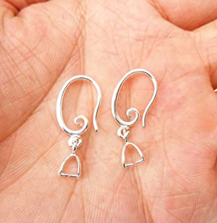 10PCS Findings ROSE GOLD Smooth Pinch Crystal Earring Hook Wire Wholesale