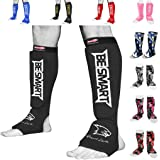 BeSmart Kids, Adults, Youth, Men and Women Muay Thai MMA Kickboxing Shin Guards, Instep Guard Training, Sparring Protective G