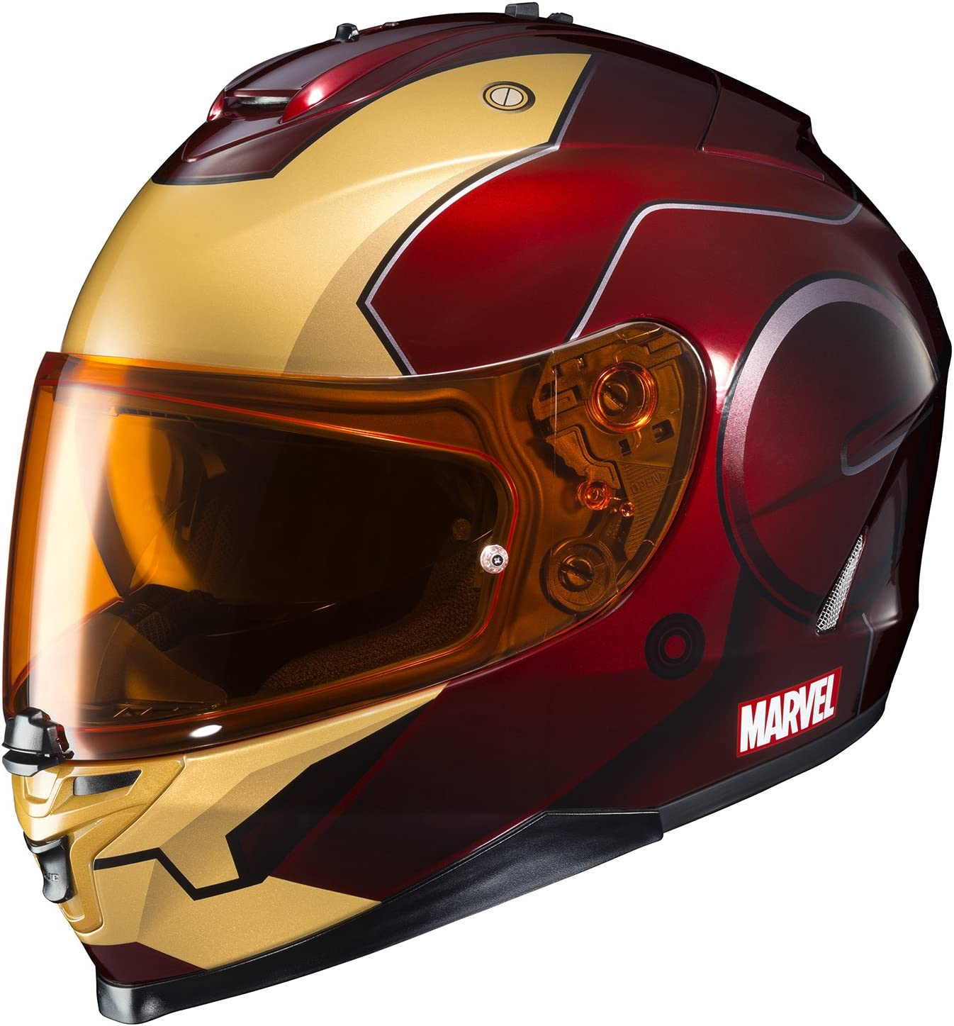 HJC Helmet Marvel IS 17- IRONMAN - Cool Motorcycle Helmets for Men