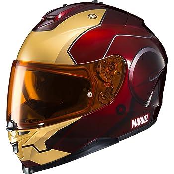 HJC Helmets Marvel IS-17 Unisex-Adult Full Face IRONMAN Street Motorcycle Helmet (Red/Yellow, Large)