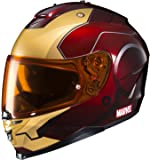 HJC Helmets Marvel IS-17 Unisex-Adult Full Face IRONMAN Street Motorcycle Helmet (Red/Yellow, XX-Large)