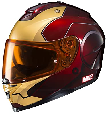 HJC Helmets Marvel IS-17 Unisex-Adult Full Face IRONMAN Street Motorcycle Helmet