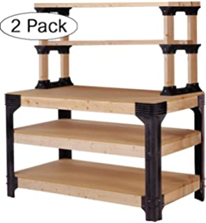 Groovy 2X4Basics 90164 Custom Work Bench And Shelving Storage Pabps2019 Chair Design Images Pabps2019Com