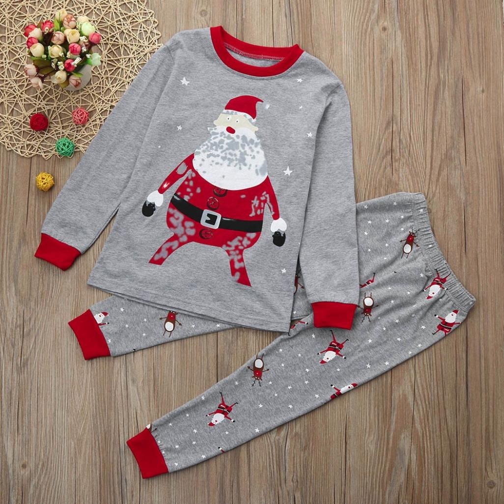 Vicbovo Xmas Clearance Sale Toddler Baby Boy Girl Christmas Pajamas Santa  Shirt Pants Kids Sleepwear Outfits 197f62ef2