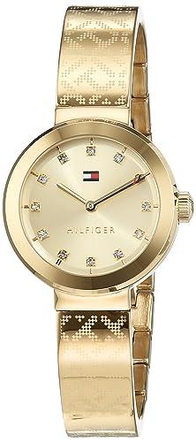 Reloj analógico para mujer Tommy Hilfiger 1781720, mecanismo de cuarzo, diseño clásico, correa chapada en oro.: Tommy Hilfiger: Amazon.es: Relojes