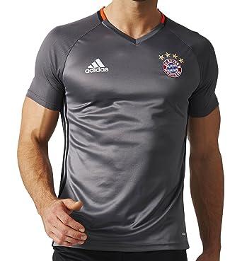 watch 0e60c a9fdb adidas Men's FC Bayern Munich Training Jersey (Medium) Granite