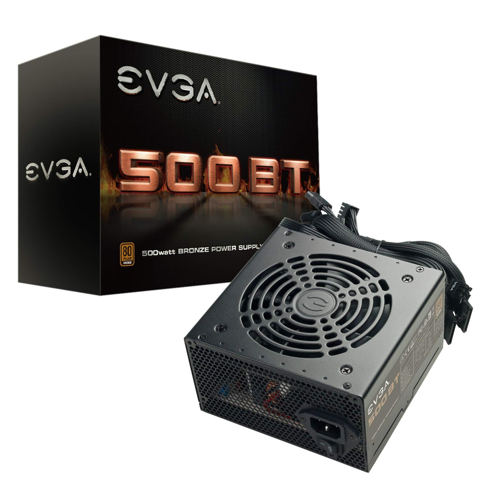 EVGA 500 BT, 80+ Bronze, 500W, 3 Year Warranty, Power Supply 100-BT-0500-K1 by EVGA