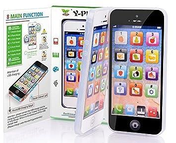 a6ac6cdde64 CYNDIE 2 piezas Simulación Electrónica Teléfono Juguetes Bebé / Niños  Preescolar Inglés Aprendizaje Móvil (Sin USB): Amazon.es: Juguetes y juegos