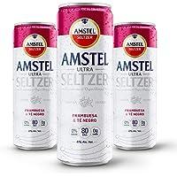 Hard Seltzer Amstel Ultra Frambuesa & Té Negro 12 Latas de 355ml