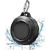 Outdoor Waterproof Bluetooth Speaker,Kunodi Wireless Portable Mini Shower Travel Speaker with Subwoofer, Enhanced Bass, Built